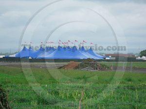 Radio 1 Big Weekend tents at Carlisle Aiport